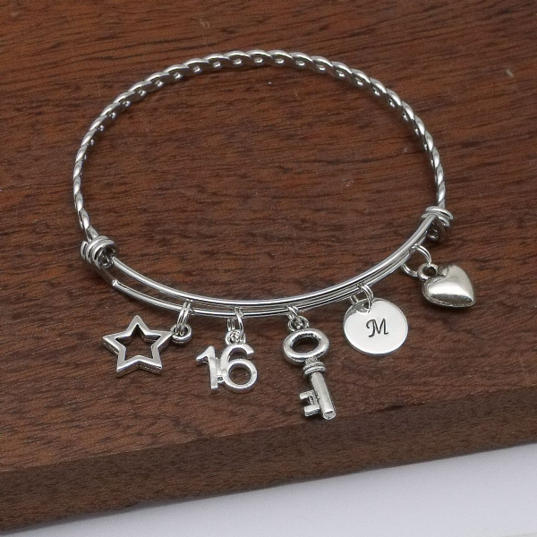 16th Birthday age bracelet jewellery gift